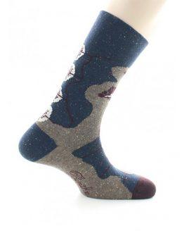chaussettes homme fleur art deco