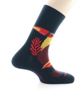 chaussettes toucan marine made in france